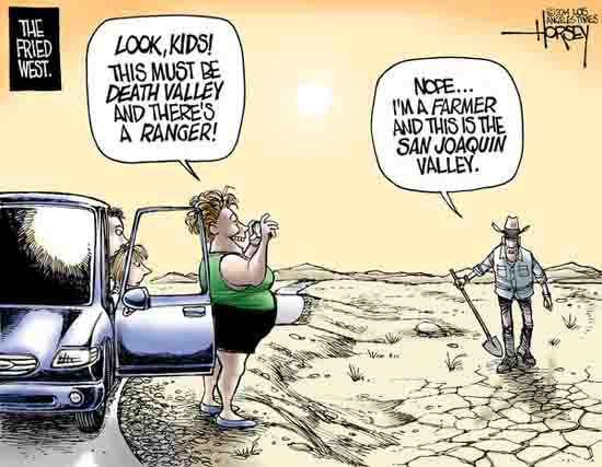Quote Of The Day From The Los Angeles Times: David Horsey: A Little California Dry Humor