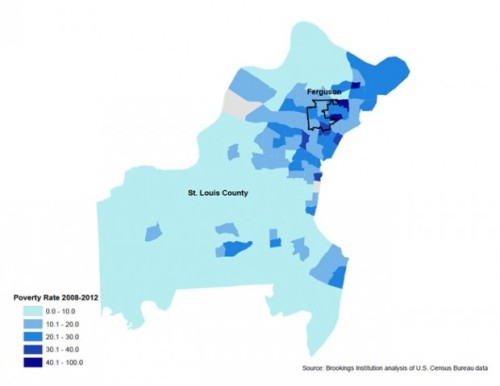 Census Tract-Level Poverty Rates in St. Louis County, 2008-2012