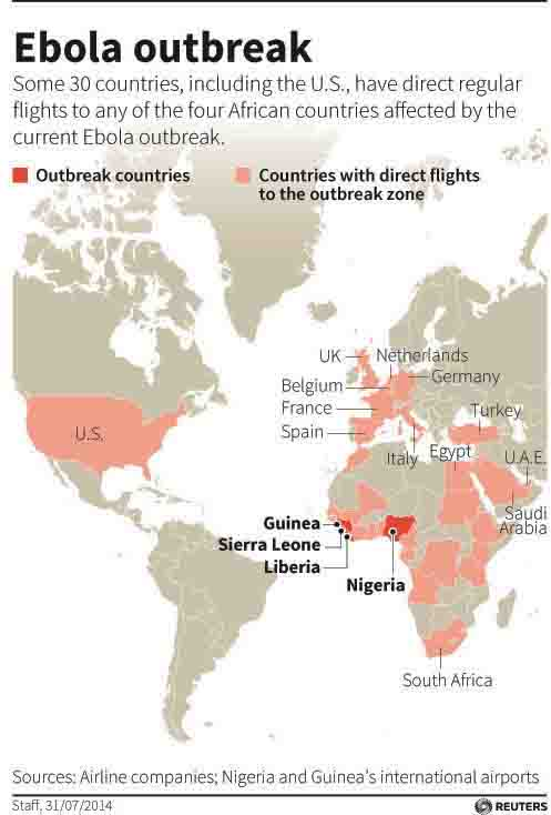 Map Of The Day Flights To The Ebola Hot Zone Eats Shoots N Leaves - Ebola us map