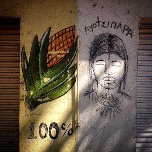 100% Mexican - 100% mexicano. Drawing demanding justice for the 43 students missing from Ayotzinapa - Dibujo demandando justicia para los 43 estudiantes desaparecidos de Ayotzinapa