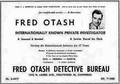 A Fred Otash newspaper ads