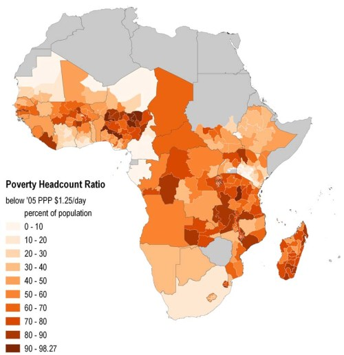Map of the day Sub Saharan poverty