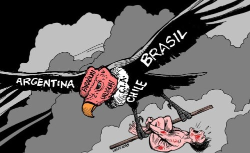 Operation Condor, by Brazilian cartoonist Carlos Latuff.
