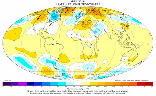 May 2016 Was 2nd Warmest May in Satellite Record