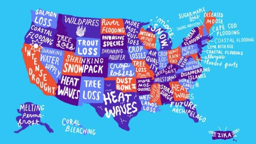 Map Of The Day US Climate Change Impacts Eats Shoots N Leaves - Us map climate