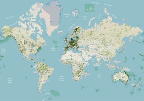A map of the world's environmentally protected areas, from the study.