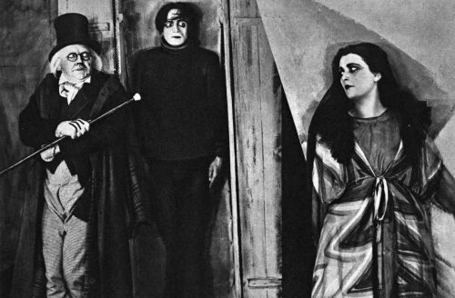 It's either a still from The Cabinet of Dr. Caligari, a 1920 classic German horror film, or Trump administration Chief Strategist and Breitbart.com mastermind Steve Bannon introducing the latest name on the Trump cabinet short list, as American women look on in horror.