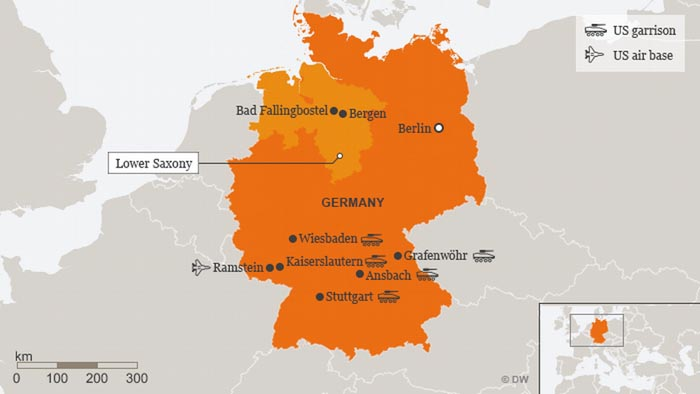 Map Of The Day Pentagons German Base Hunger Eats Shoots N Leaves - Germany map military bases